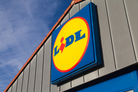 BURG  GERMANY - NOVEMBER 13, 2016: Branch from LIDL supermarket chain. LIDL is a German global discount supermarket chain, based in Neckarsulm, Baden-Wuerttemberg, Germany.