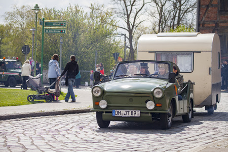 ALTENTREPTOW GERMANY MAY German Trabant Car With - Show car trailer