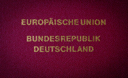 Text from german passport (European Union Federal Republic of Germany)