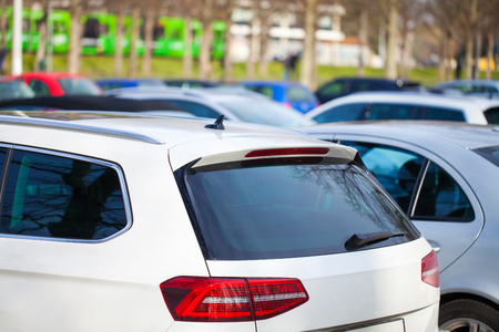german cars on a parking area
