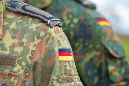 german flag on german army uniform Foto de archivo