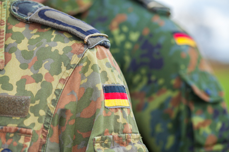 german flag on german army uniform Standard-Bild