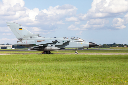 german jet fighter drives on military airbase Editorial