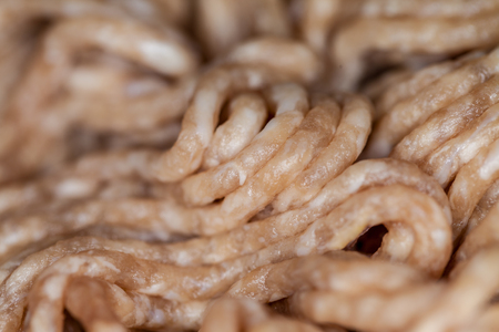 closeup of a minced pork and beef