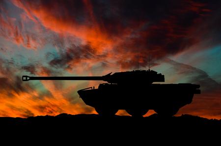 French light reconnaissance vehicle illustration silhouette / 3d