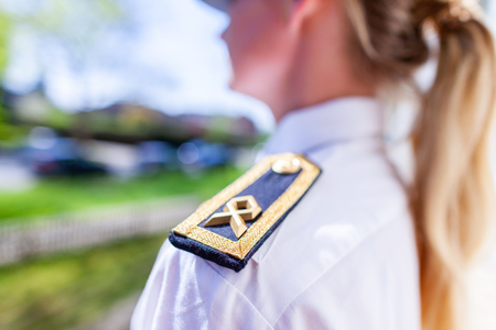 Woman in a military uniform of german Bundeswehr