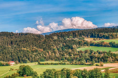Beautiful high dynamic range picture of a bavarian landscape