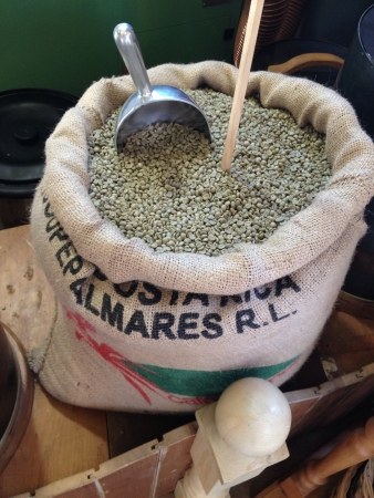 A bag of green coffee beens which is for sale Stock Photo - 22100245