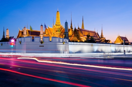 bangkok landmark: Temple of the Emerald Buddha  Wat Phra Kaew   Bangkok, Thailand