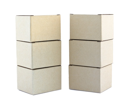 Carton boxes on white background  photo