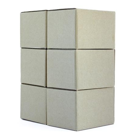 Carton boxes on white background  photo
