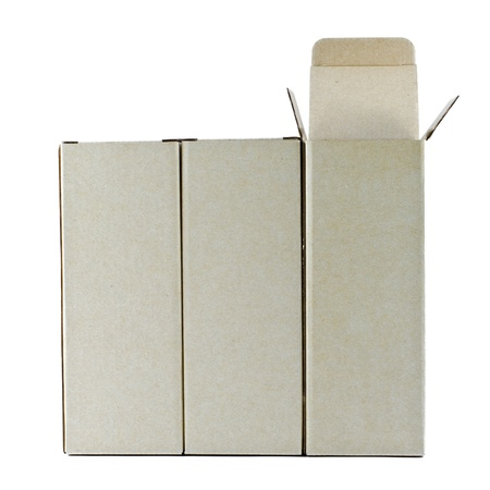 Carton boxes on white background  Stock Photo - 12876503
