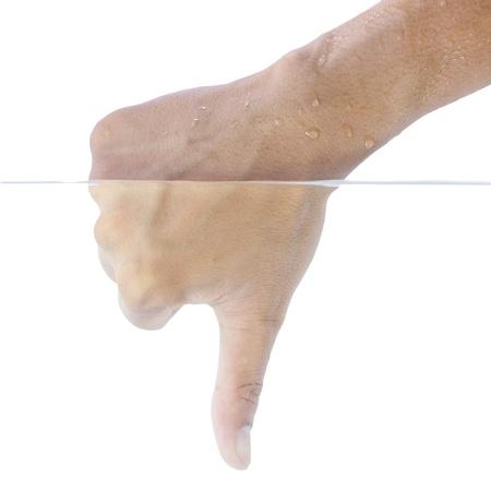 Hand under water. photo