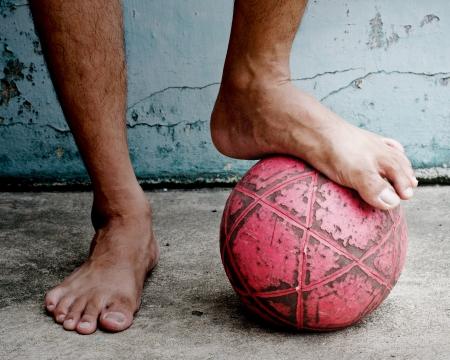 Street Football  Stock Photo