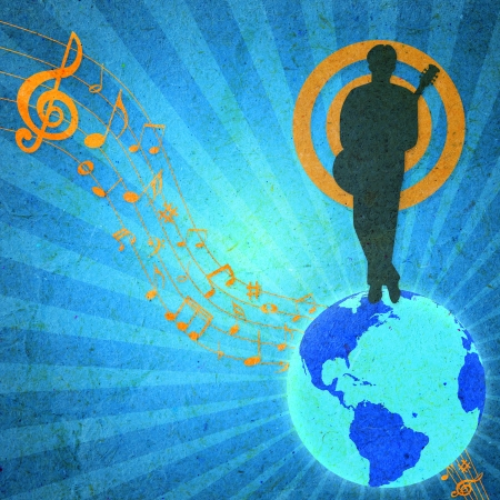 World music, vintage design  photo
