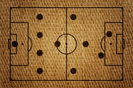 Football Formation Tactics 4-4-2  On sack grunge