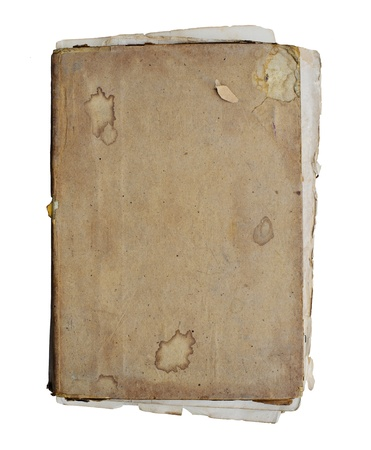 Old closed book on white background Stock Photo - 14387330