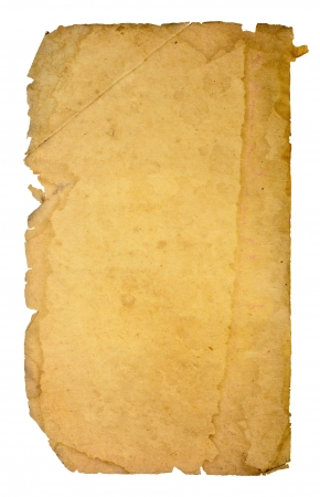 Old paper on white background  Stock Photo - 14492732
