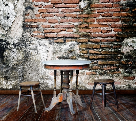 Furniture in grunge room Stock Photo - 14686901