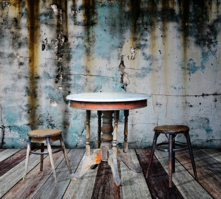 Furniture in grunge room  Stock Photo - 14686858