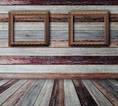 Picture frame put on wall in grunge room Stock Photo - 14686938
