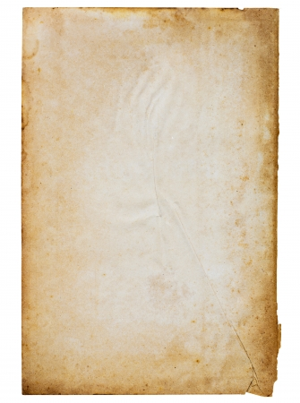 Old paper on white background  Stock Photo - 14934230
