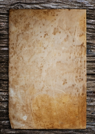 old fashioned sepia: Old paper put on the old wood