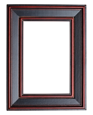 wood carving: Picture frame on white background