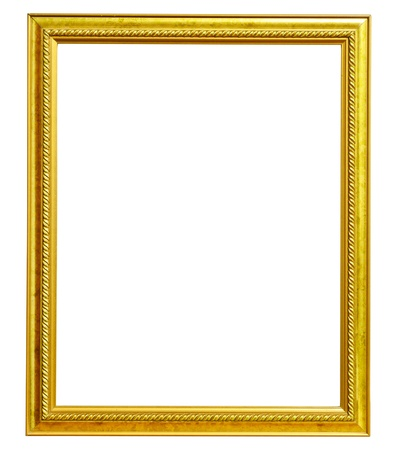 Old picture frame on white background