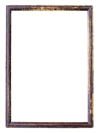 mirror frame: Old picture frame on white background