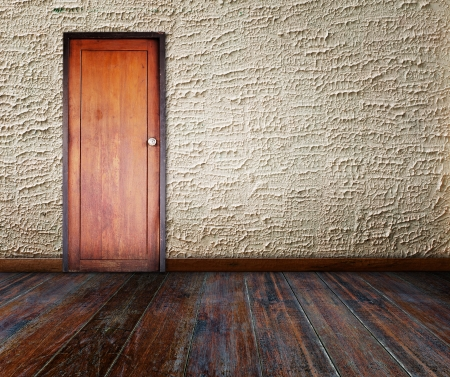 Door in grunge room. photo