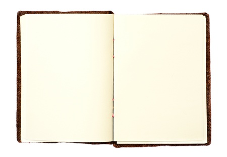 history book: Open book on white background