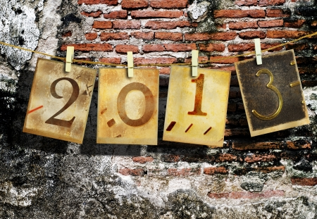 New year 2013 and christmas 2013 vintage style Stock Photo - 16462585