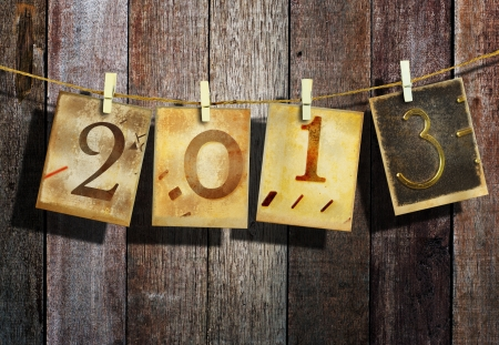 New year 2013 and christmas 2013 vintage style Stock Photo - 16462559