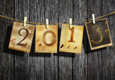 New year 2013 and christmas 2013 vintage style Stock Photo - 16462563