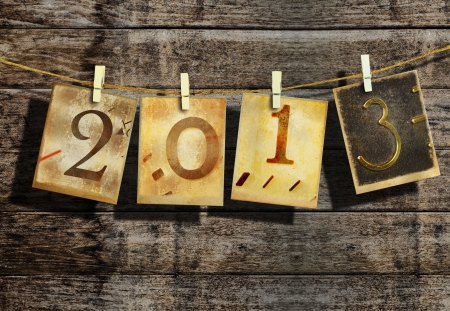 New year 2013 and christmas 2013 vintage style Stock Photo - 16462561