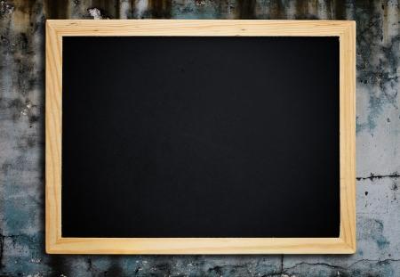 semester: Blackboard on vintage wood wall.