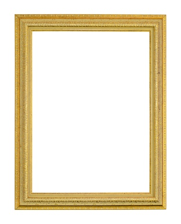 Old picture frame on white background 版權商用圖片 - 18251794