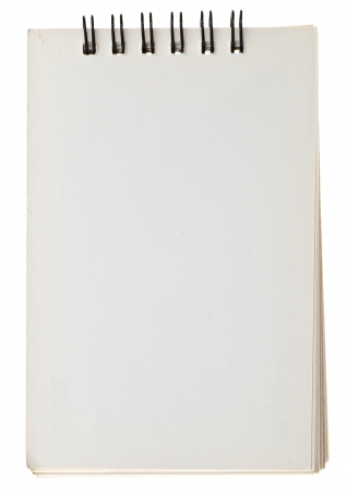 Note book on white background
