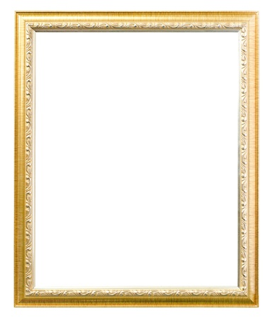 simple frame: Old picture frame on white background.