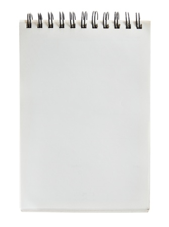 Note book on white background. photo