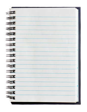 copybook: Note book on white background.