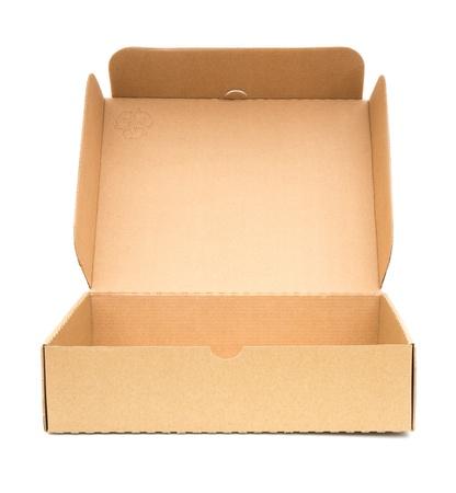 carton: Meerdere dozen op een witte achtergrond. Stockfoto
