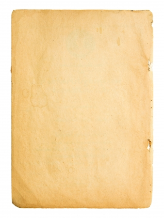 Old paper on white background