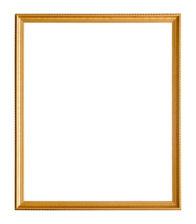 Old picture frame on white background Imagens - 20885821
