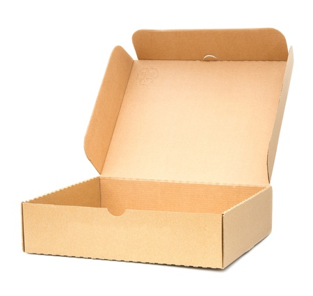 Several boxes on white background. photo