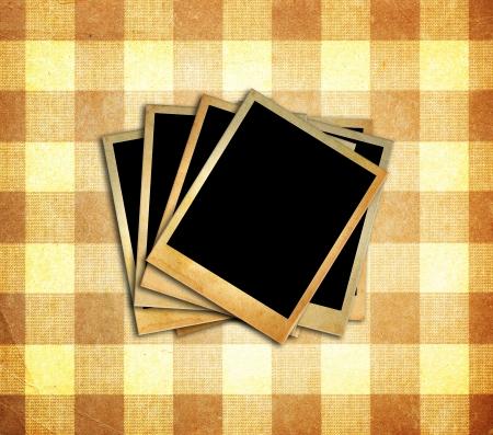 wallpaper image: Old photos frame on grunge background