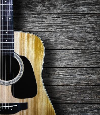 Guitar on wood background Stock fotó - 24969244