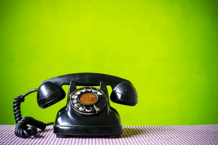 old phone: Old telephone  Stock Photo