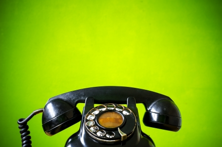 rotary phone: Old telephone  Stock Photo